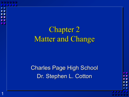 Matter and Change