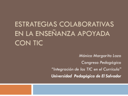 Estrategias Colaborativas en la Enseñanza apoyada