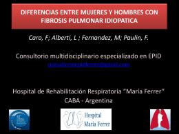 CARACTERÍSTICAS DE LOS PACIENTES CON FIBROSIS