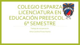 Colegio Esparza Licenciatura en Educación