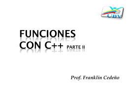Funciones con c++ - FACS | Educación Dialogica