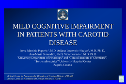 mild cognitive impairment in patients with carotid