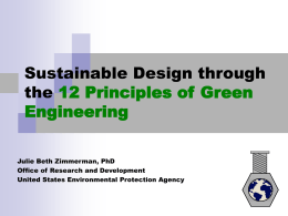 Design through the 12 Principles of Green
