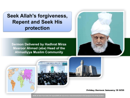 Friday Sermon Slides