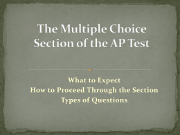 The Multiple Choice Section of the AP Test -