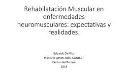 Rehabilatación Muscular en enfermedades