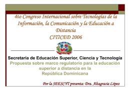 4to Congreso Internacional sobre Tecnologías de la