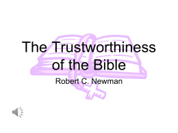 PowerPoint Presentation - The Trustworthiness of