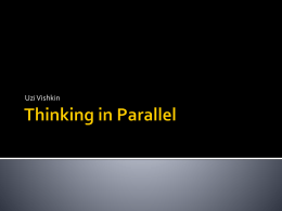 Thinking in Parallel - Donald Bren School of