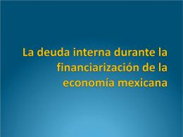 La deuda interna durante la financiarización de la