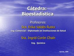 Catedra: Bioestadística