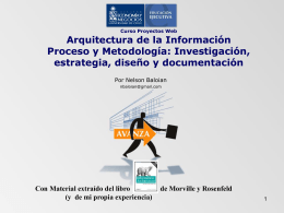 I. Arquitectura de Información