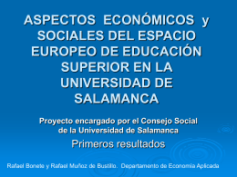 ASPECTOS ECONÓMICOS y SOCIALES DEL ESPACIO EUROPEO