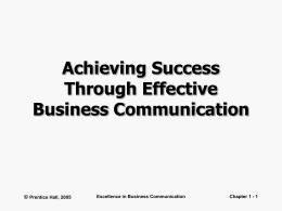 Achieving Success Through Effective Business
