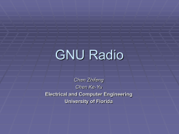 GNU Radio - University of Florida