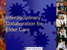 Module 20. Interdisciplinary Collaboration for