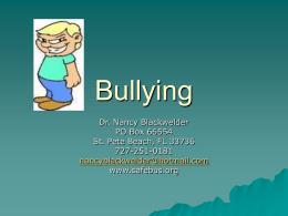 Bullying - Florida Association for Pupil