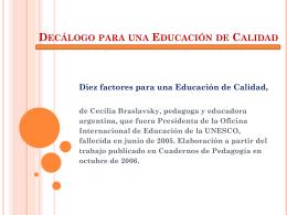 Decálogo para una Educación de Calidad
