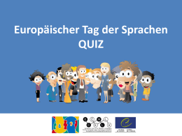 European Day of Languages 26th of September