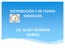 DISTRIBUCIÓN F DE FISHER