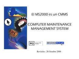 MS2000 - RQ Consultoría Técnica: Inicio