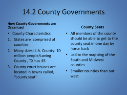 14.2 County Governments