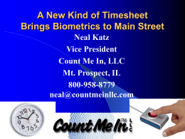 When Time is Money: A New Kind of Timesheet