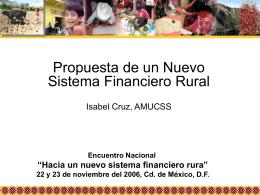Mercados Financieros Rurales en México