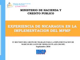 Reforma a la Gestión de FP en Nicaragua -
