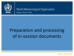 Presentation title here - World Meteorological