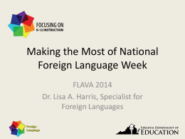 Making the Most of National Foreign Language Week