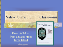 Native Curriculum in Classrooms