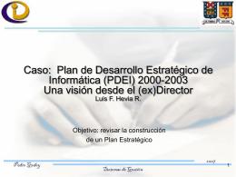 """`Desarrollo del DI: una visión estratégica"""" Luis"""