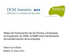 Estudio Financiación pymes y empesas en expansión
