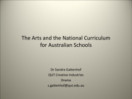 The Arts and the National Curriculum for