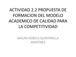 ACTIVIDAD 2.2 PROPUESTA DE FORMACION DEL MODELO