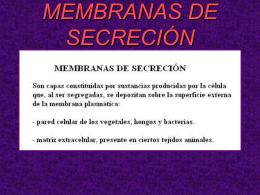 MEMBRANAS DE SECRECIÓN