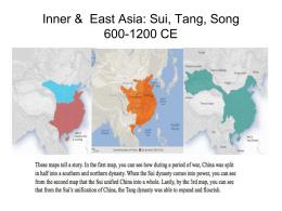 Inner & East Asia 600-1200