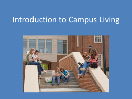Campus Living Vocabulary Terms and Definitions