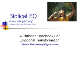 Biblical EQ www.aibi.ph/beq/
