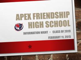 Apex Friendship High School