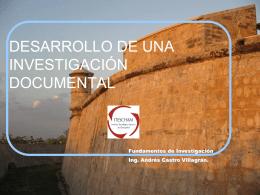 DESARROLLO DE UNA INVESTIGACIÓN