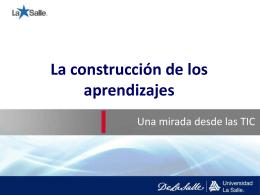La construcción de los aprendizajes