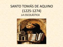 SANTO TOMÁS DE AQUINO (1225