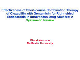 Effectiveness of Short-course Combination Therapy