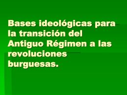 Bases para la transición del Antiguo Régimen