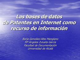 Las bases de datos de Patentes en Internet como