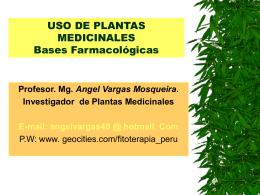 USO DE PLANTAS MEDICINALES Bases Famacológicas