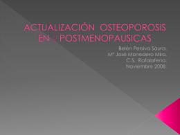 ACTUALIZACIÓN OSTEOPOROSIS POSTMENOPAUSICA