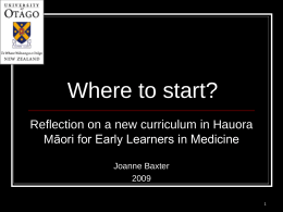 Developing a Hauora Māori Medical Curriculum